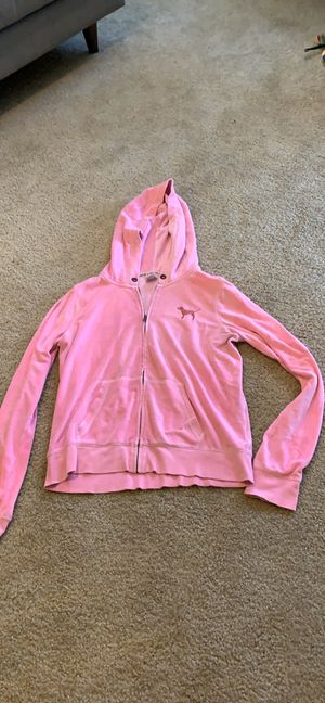 PINK Victoria's Secret Velour Hoodie: Size L for Sale in Anaheim, CA