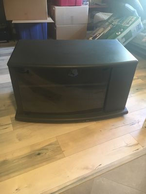TV stand with glass door for Sale in Houston, TX