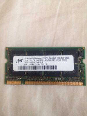 Laptop Ram DDR 1 GB for Sale in Manassas, VA