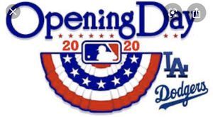 Dodgers opening day 2020 for Sale in South Gate, CA