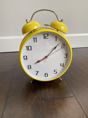 Ikea 8 inch yellow alarm clock for Sale in Gig Harbor, WA