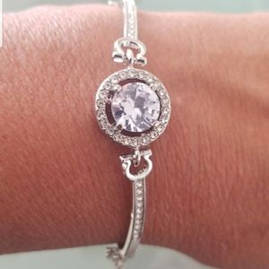 New CUBIC ZIRCONIA DIAMOND STERLING Silver BRACELET for Sale in Discovery Bay, CA