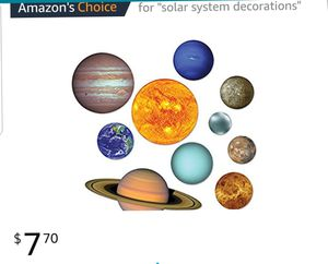 Solar system cut outside. Great for decorating parties or classrooms or school projects for Sale in Arlington, VA