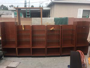Storage shelves display cabinets for Sale in Anaheim, CA