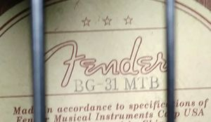 FENDER BG 31 MTB ACOUSTIC/ELECTRIC BASS for Sale in Portland, OR