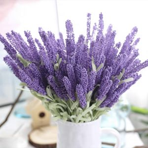 10pcs Artificial Flowers Flocked Plastic Lavender Bundle Fake Plants Wedding Bridle Bouquet Indoor Outdoor Home Kitchen Office for Sale in Brooklyn, NY