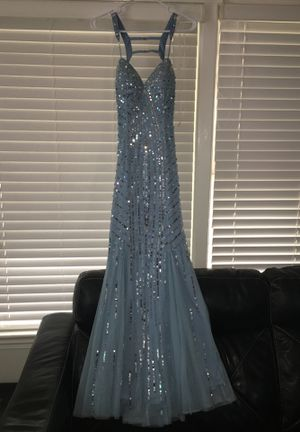 Beautiful Prom/Party Gown Dress Sean Collection Size Small Color Light Blue (Cinderella) for Sale in North Riverside, IL