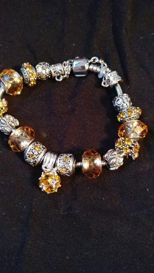 European charm beads bracelet bangle for Sale in Salt Lake City, UT