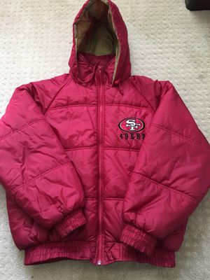 49ers Game Day Parka Jacket - Red/Gold - Size Large for Sale in Milpitas, CA