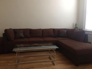 Brand New Brown Microfiber Sectional Sofa Couch for Sale in Silver Spring, MD