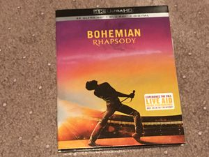 Bohemian Rhapsody 4k Bluray complete with digital code for Sale in Altadena, CA
