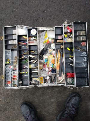 Large tackle box fishing trout bass etc for Sale in Fullerton, CA