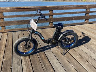 Ecotric black Portable and folding fat bike model Dolphin for Sale in Alameda,  CA