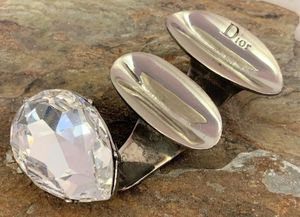 DIOR Silvertone Double Disc Crystal Teardrop Ring for Sale in Roswell, GA