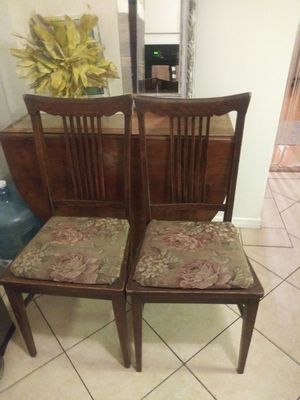 Antique Vintage Upholstered Chairs Two for Sale in Los Angeles, CA
