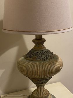 Antique Lamp Beige Blue Tan for Sale in Los Angeles,  CA