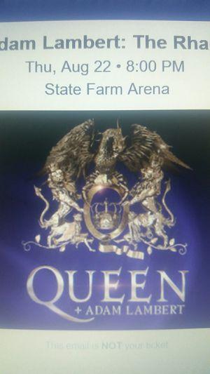 Ticket to Queen with Adam Lambert Atlanta for Sale in Atlanta, GA