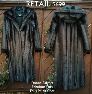 Donna Salyers Fabulous Furs Faux Mink Coat Small for Sale in Lanham, MD