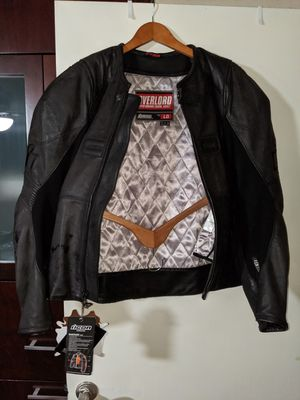 L ICON OVERLORD LEATHER MOTORCYCLE JACKET LARGE MINT CONDITION for Sale in San Diego, CA