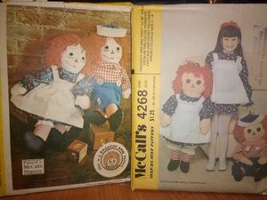{*SEWING PATTERNS*} RAGGEDY ANN, RAGGEDY ANDY DOLLS AND CHILD'S APRON PATTERNS for Sale in Tucson, AZ