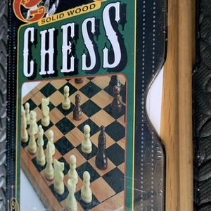 Vintage chess set ( solid wood ) brand new never opened . for Sale in Culver City, CA