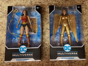"""Set of 2 Mcfarlane Toys DC Multiverse Wonder Woman 7"""" Action Figures Golden 1984 for Sale in Aurora, CO"""