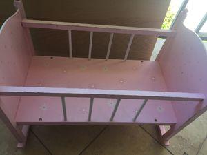 Doll Crib wooden for Sale in Miami, FL