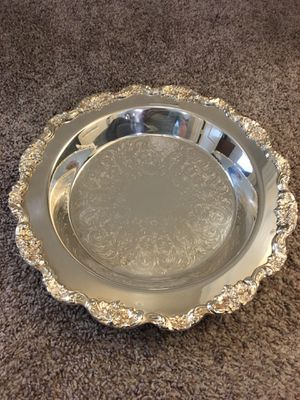 Sterling Silver Plated Pie Plate plus Pyrex Dish by Poole Silver for Sale in Town and Country, MO