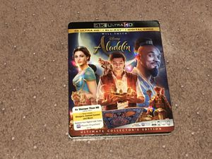 Aladdin 4k Bluray complete with digital code for Sale in Altadena, CA