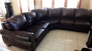 Brown Leather Sectional Sofa for Sale in Hacienda Heights, CA
