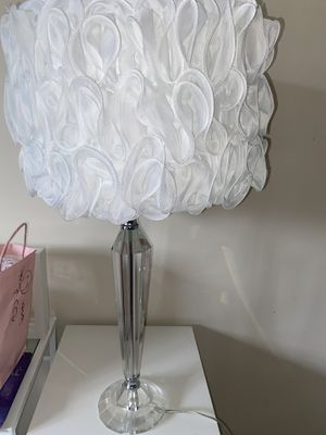 Set of 2 glass lamps with shades for Sale in Monroe, NY