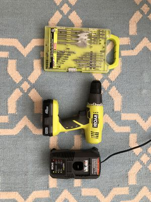 Ryobi 18v drill with charger and tool set for Sale in Orlando, FL