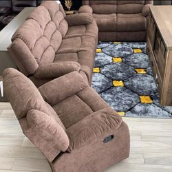 Fabric Livingroom sofa loveseat chair Recliner Set 🧿$38 down Same day delivery🧿🧿SRH for Sale in Houston,  TX