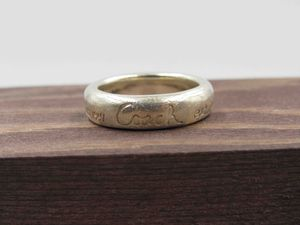 Size 7 Sterling Silver Rustic Coach Brand EST 1941 Band Ring Vintage Statement Engagement Wedding Promise Anniversary Cocktail Friendship for Sale in Everett, WA