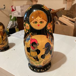 Antique Russian Hand Painted Nesting Dolls for Sale in Beaverton, OR