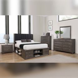 Queen Bed Frame & Dresser   Free Delivery for Sale in Renton, WA