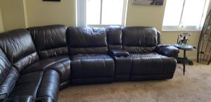 Brown leather couch for Sale in West Palm Beach, FL