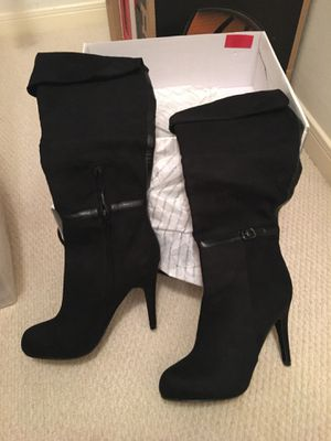 Aldo Arely-98 Black Suede Knee High Boots US Size 7 (New In Box) for Sale in Cypress, TX
