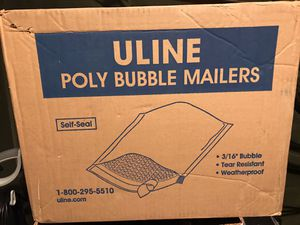 Uline bubble wrap mailing envelopes14x20 pk 50 a case for Sale in Martinsburg, WV