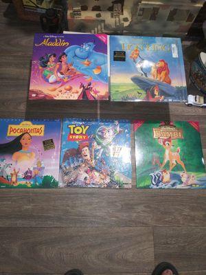 Disney 5 laser disk albums for Sale in Lakeland, FL