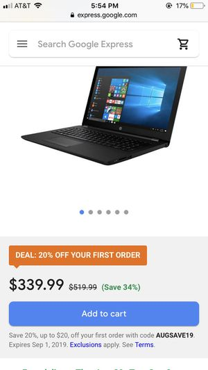 Hp touch screen notebook laptop for Sale in Sacramento, CA