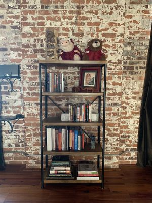 5-Tier Rustic Industrial Bookcase for Sale in Atlanta, GA