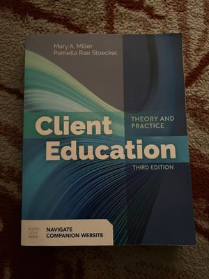 Client Education 3rd Edition for Sale in Norwalk, CA