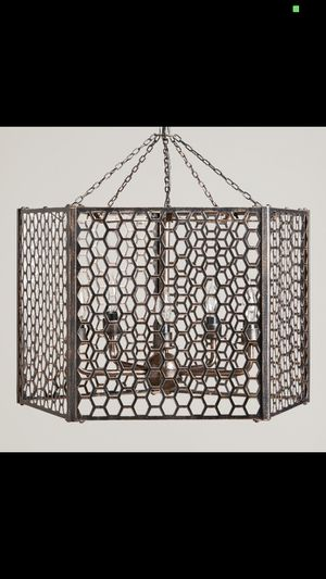 Honeycomb chandelier of die-cut metal for Sale in Daly City, CA