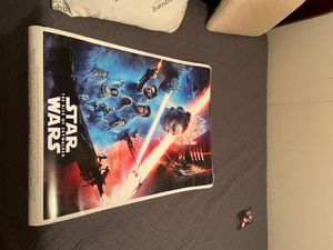 Star Wars the rise of Skywalker original movie poster for Sale in Humble, TX