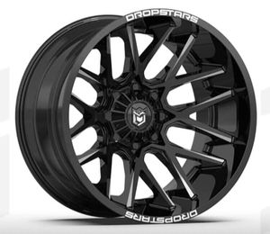 "20"" DROPSTARS Wheels & Tires Pkg: ✅20x10 Rims Gloss Black (DS-654) ✅33x12.50R20 M/T Tires ✅FREE Leveling Kit Complete Package Only $1599 for Sale in Huntington Beach, CA"