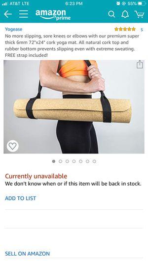 Yoga Mat (cork top/rubber bottom) for Sale in Seattle, WA