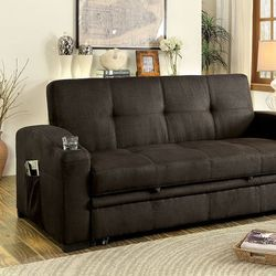 Super !!! Dark Brown Sofa Bed W 2 Cupholders for Sale in Nellis Air Force Base,  NV