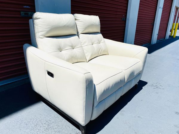 50%OFF // COSTCO Timmons Leather Power Reclining SOFA + LOVESEAT // LIKE NEW