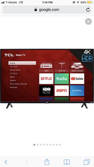 50 TCL ROKU smart tv for Sale in Escondido, CA